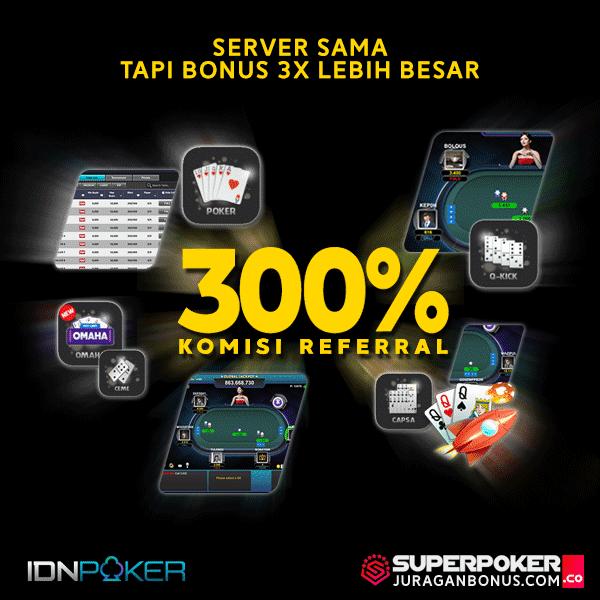 Poker IDN bonus terbesar