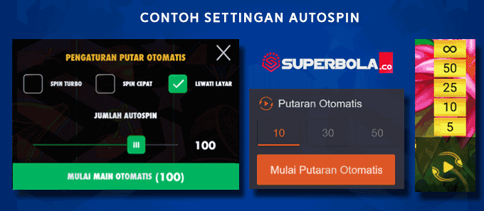 Contoh setting autospin SuperBola