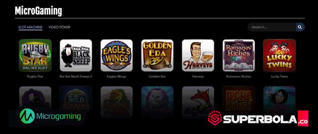Daftar permainan slot Micro Gaming SuperBola