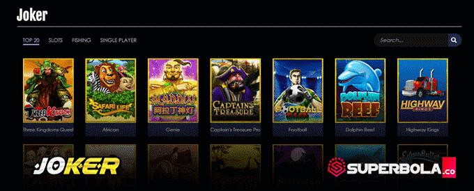 Pilihan permainan slot Joker situs SuperBola