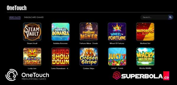 Daftar permainan One Touch Slot di Situs Judi SuperBola