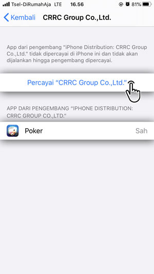 Percayai akses aplikasi IDN poker iOS