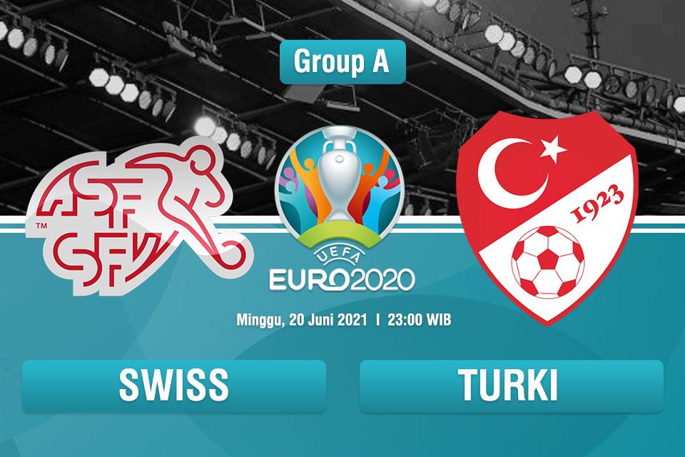 Perkiraan Susunan Pemain Swiss VS Turki Piala Eropa 2020